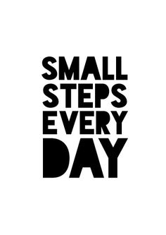 Motivational wall decor, Office decor, Small steps every day, Printable wall art, Motivational quote Life Quotes Love, Goal Quotes, Fitness Motivation Quotes, Quotes To Live By, Health Fitness Quotes, Motivational Quotes For Students, Gifts For Office, Printable Quotes, Business Quotes
