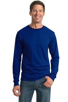 JERZEES - Dri-Power Active 50/50 Cotton/Poly Long Sleeve T-Shirt. 29LS #ActiveShirts&Tees