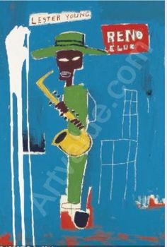 basquiat - lester young painting