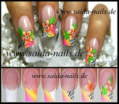 Nail art tutorial by Saida nails Great Nails, Fabulous Nails, Cute Nails, Fancy Nails, Diy Nails, One Stroke Nails, Nails Only, Trendy Nail Art, Beautiful Nail Designs