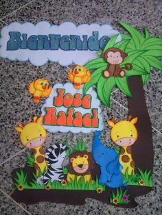 Bienvenido de safari Foam Crafts, Craft Stick Crafts, Preschool Crafts, Diy And Crafts, Crafts For Kids, Class Decoration, School Decorations, Safari Theme Party, Party Themes