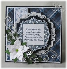 Project featuring Our Daily Bread Designs' No Words, Ornate Borders and Flowers stamps plus coordinating Ornate Borders & Flower Die