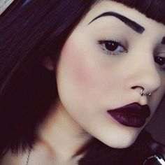 Grunge Girl Makeup and Septum Piercing Jewelry at MyBodiArt