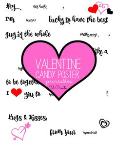 Candy Poster Valentine Printable