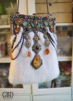 """Desire,"" gorgeous Russian beaded handbag."