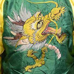 テーラー東洋スカジャン「GOLD DRAGON×EAGLE&DRAGON」龍×鷲&龍・復刻サテンスカ NO-814/tt12710-145