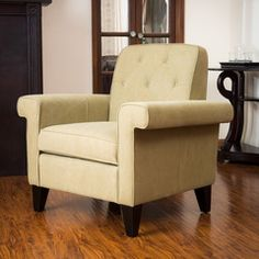 Menlo Tan Fabric Upholstered Club Chair