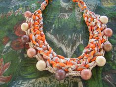 Collar de trapillo  Sabana Africana de By Lena-Marques por DaWanda.com