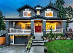 Plan 23574JD: Northwest House Plan for Front Sloping Lot ...