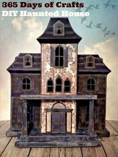 DIY Haunted House - a SPOOKTACULAR Creation made entirely of paper, ImagineCrafts ink, and adhesive.