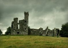 beautiful ancient ruins in Ireland, on the Hill of Slane.