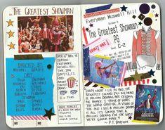 The Greatest Showman journal Music Journal, Scrapbook Journal, Journal Layout, My Journal, Bullet Journal Ideas Pages, Bullet Journal Inspiration, Journal Pages, Bullet Journals, Instagram Movie