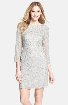 Beaded Silver Gown for a Mother of the Bride | Dress for the Wedding