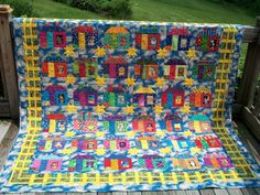 "Freddy Moran's quilt ""The Stars at Night"" (1994) featured on blog: The Polka Dot Chicken: 7 Day Forecast Makes Color a Necessity!  http://thepolkadotchicken.blogspot.com/2011/05/7-day-forecast-makes-color-necessity.html"