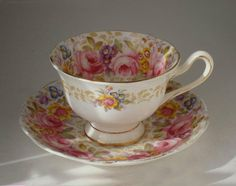 """ROYAL ALBERT CHINA """"SERENA"""" PATTERN CUP AND SAUCER, IN  GOOD CONDITION"""