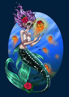 Mermaid Suger Skull