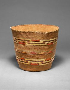 Basket (material: plant fibre). Alaska, late 19th century, Tlingit culture.  Metropolitan Museum of Art, New York.
