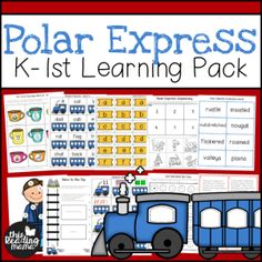 If you're having a Polar Express Day or just want to have some Polar Express learning fun, this pack is filled with literacy and math activities for learners! Sequencing Worksheets, Sequencing Cards, Spelling Activities, Literacy Activities, Visual Literacy, Math Literacy, Math Games, Maths, Telling Time Games