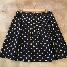 J Crew Polka Dot Skirt Perfect condition. Fits me and I'm a size 6 so depends on how you want to wear it. J. Crew Skirts Mini