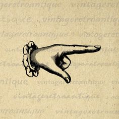 Digital Printable Finger Pointing Graphic Classic Pointing Hand Image Artwork Download Vintage Clip Art. Vintage digital image clip art for printing, iron on transfers, tote bags, t-shirts, papercrafts, and much more. Great for use on etsy items. This digital image is high quality, large at 8½ x 11 inches. Transparent background version included with all images.