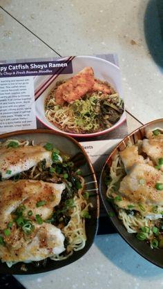 Crispy Catfish Shoyru Ramen with Yu Choy & Fresh Ramen Noodles