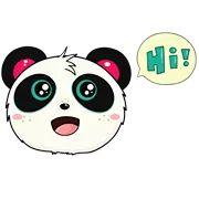 Pandi Facebook Sticker - Sticker Sort Cute Panda, Funny Stickers, Kawaii Cute, Artwork, Inspirational, Fictional Characters, Facebook, Image, Sweet