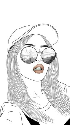 outline drawing drawings cartoon easy sketches sketch hipster faces