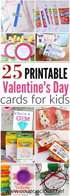 Free printable Valentines Day cards for kids Free Valentine Printables is part of Quick Kids Crafts Free Printables We have 25 free printable valentines day cards for kids sure to be a hit! Free Valentine Cards, Printable Valentines Day Cards, Kinder Valentines, Valentine Gifts For Kids, Homemade Valentines, Valentine Party, Valentine Cards For School, Classroom Valentine Cards, Valentine Ideas