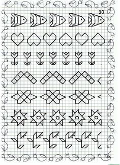 This Content For Yourself If You Like drawing ideas easy Blackwork Cross Stitch, Blackwork Embroidery, Cross Stitch Borders, Cross Stitching, Cross Stitch Embroidery, Embroidery Patterns, Cross Stitch Patterns, Graph Paper Drawings, Graph Paper Art
