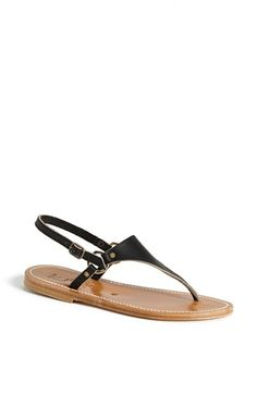 K Jacques St. Tropez 'Triton' Vachetta Leather Thong Sandal available at #Nordstrom