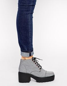Enlarge Vagabond Dioon Light Gray Heeled Ankle Boots