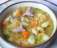 Kapuśniak Rumcajsa - Soup Recipes, Diet Recipes, Cooking Recipes, Healthy Recipes, Polish Soup, European Dishes, Brunch, Polish Recipes, Frugal Meals