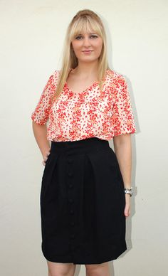 i heart fabric: Megan Nielson Kelly Skirt and Banksia Top