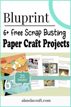 Are you looking to reduce that paper stash? Here are some free scrap busting paper projects from Bluprint. These projects will give you inspiration and they're fun to do. Card Making Tutorials, Craft Tutorials, Craft Projects, Diy Paper, Paper Crafts, Card Maker, Photo Tutorial, How To Make Paper, Diy Cards