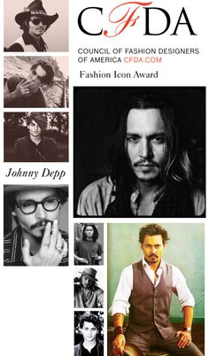 CFDA Fashion Icon Award: Johnny Depp, created by cfda on Polyvore