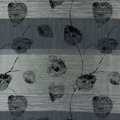 Cassis 2 - gris foncé - Tissus de décoration - Rayures - Tissus de décoration - Plantes - Jacquard - tissus.net