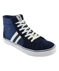 Another great find on #zulily! Navy Pump Hi-Top Sneaker #zulilyfinds
