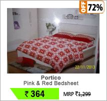 Portico pink & red bed sheet