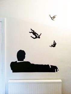 <b>Falling Men Wall Sticker</b>