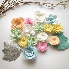 Creamsicle felt flower pack #feltcrafts
