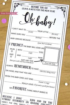 Baby Shower Mad Libs Advice Card, Boho Baby Shower, Gender Neutral, Mom-to-be Funny Advice Card, Bab Boho Baby Shower, Baby Shower Mad Libs, Shower Bebe, Baby Shower Games Printable, Baby Shower Checklist, Baby Shower Sayings, Baby Shower Co Ed, Baby Shower Ideas On A Budget, Baby Shower Games Funny