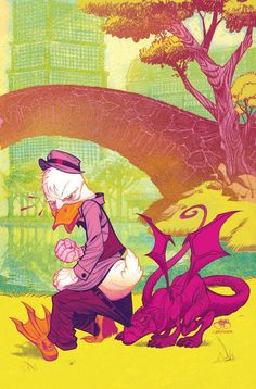 All New X-Men #41 variant cover - Howard the Duck by Shawn Crystal *