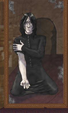There are so many images of Snape & Lily in the Mirror of Erised but this one is even more heartwrenching. (From fanpop.com or google Snape erised)