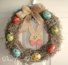 Items similar to Speckled Egg Easter Wreath - 14 inches across on Etsy Rainy Day Crafts, Summer Crafts, Easter Wreaths, Christmas Wreaths, Holiday Fun, Holiday Crafts, Speckled Eggs, Easter Parade, Patriotic Wreath