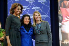 First Lady Michelle Obama and Deputy Secretary Higginbottom With 2014 IWOC Awardee Dr. Iris Yassmin Barrios Aguilar of Guatemala