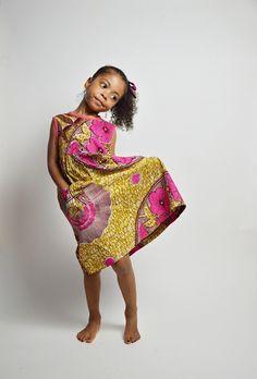 Little girl's dress (Abena) van Malaika Designs op DaWanda.com