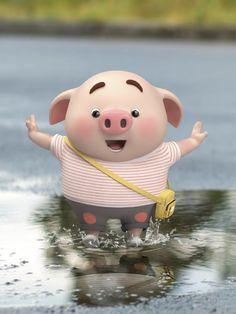 This Little Piggy, Little Pigs, Pig Wallpaper, Cute Bunny Cartoon, Cute Piglets, Pig Drawing, Pig Illustration, Funny Pigs, Pig Art