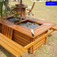 Mini Pond Picnic table