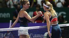 Dominika Cibulkova vs Simona Halep | 2016 WTA Finals Singapore Highlights