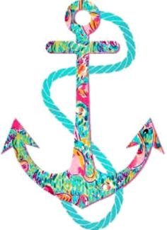 20 Water Slide Nail Art Transfer Decals Floral Teal Anchors 5/8 Inch Trending